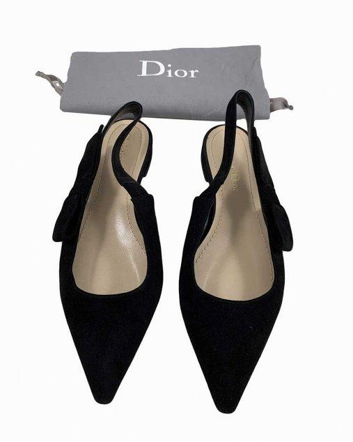 Sapatilha Christian Dior Veludo Preto