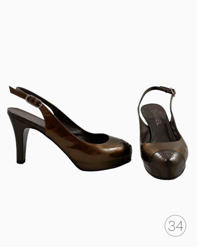 Sapato Chanel Captoe Verde