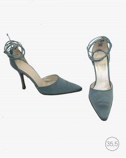 Sapato Christian Dior azul Vintage