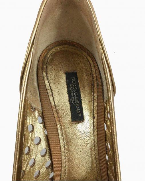 Sapato Dolce & Gabbana Bege Furinhos