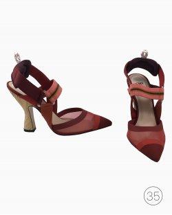 Sapato Fendi Court Burgundy
