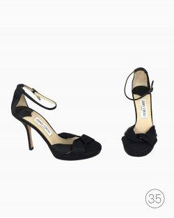 Sapato Jimmy Choo Preto Cetim