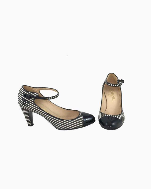 Sapato Listras P/B Chanel