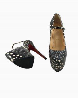 Sapato Louboutin Couro Croc