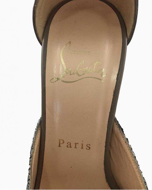 Sapato Louboutin Pyton Metal