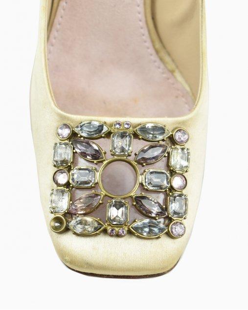 Sapato Louis Vuitton Cetim e Pedras