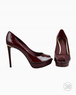 Sapato Louis Vuitton Verniz Marsala