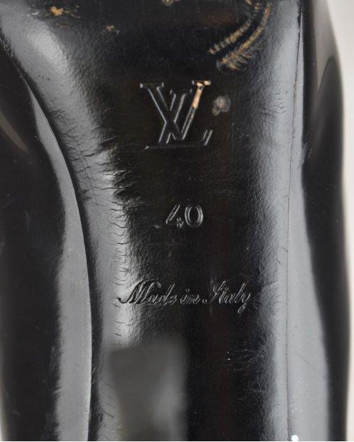 Sapato Louis Vuitton Verniz Preto