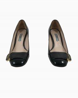 Sapato Prada Bico Redondo Verniz Preto