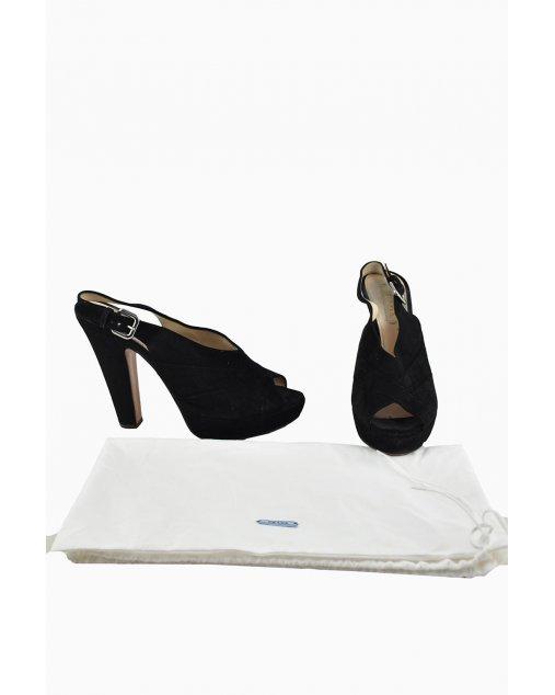 Sapato Prada Camurça Preto