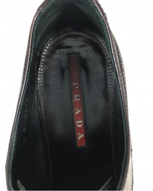 Sapato Prada Masculino Couro Marrom Escuro