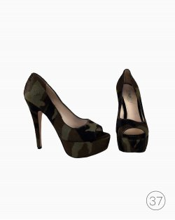 Sapato Prada Militar Camurça
