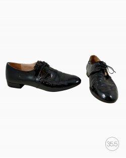 Sapato Prada Oxford Verniz Preto