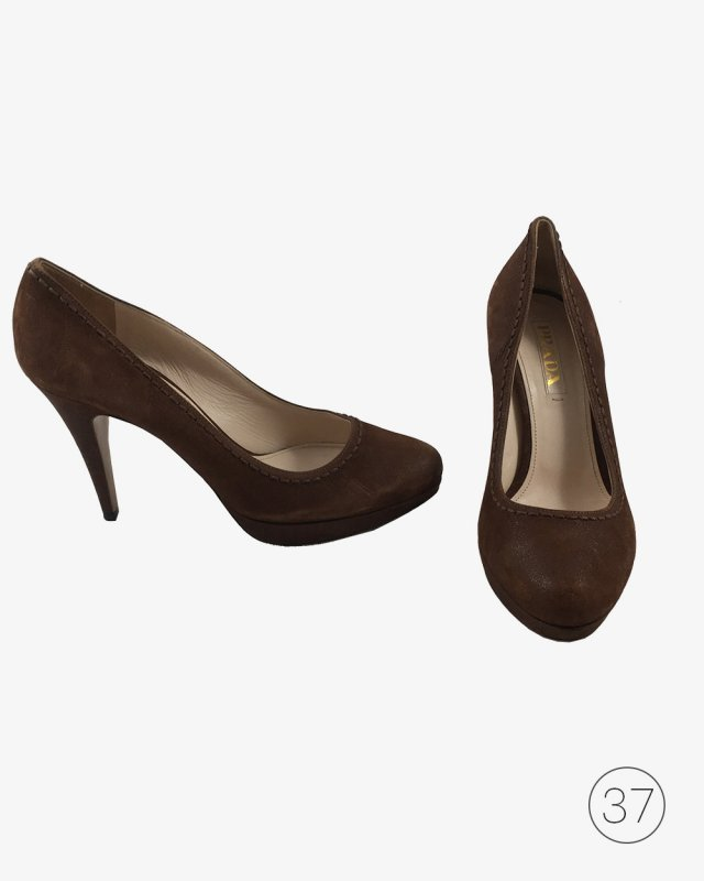 Sapato Prada Suede Marrom