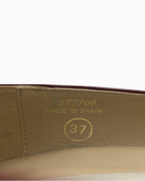 Sapato Preto de Couro e verniz Chanel