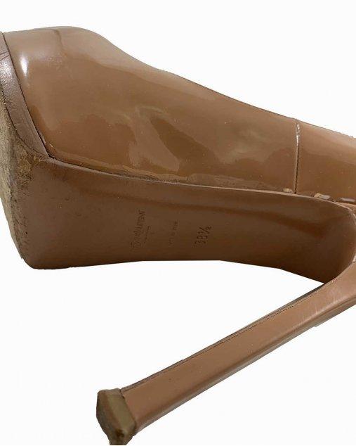 Sapato Saint Laurent Tribtoo Verniz Nude