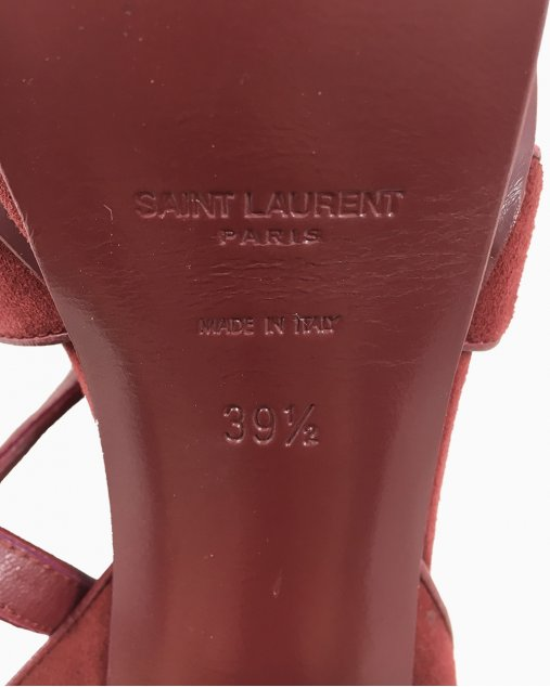 Sapato Saint Laurent Tribute Camurça Burgundy
