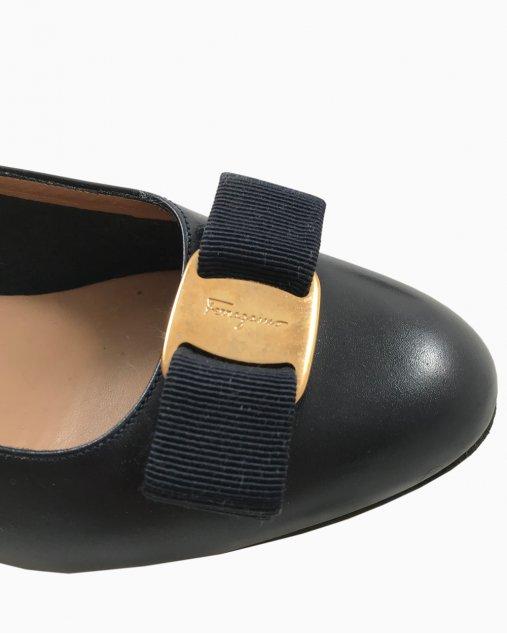 Sapato Salvatore Ferragamo Couro Azul Marinho