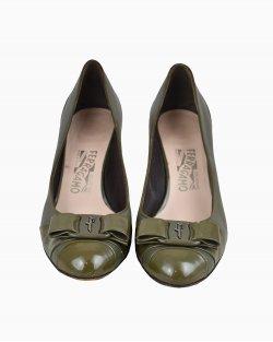 Sapato Salvatore Ferragamo Verde Militar