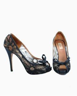 Sapato Valentino Renda Preto