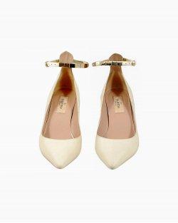 Sapato Valentino Salto Midi Nude