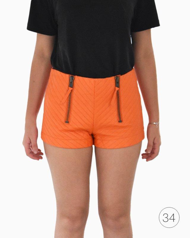 Shorts Talie Nk Couro Laranja