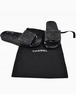 Slide Chanel Preto