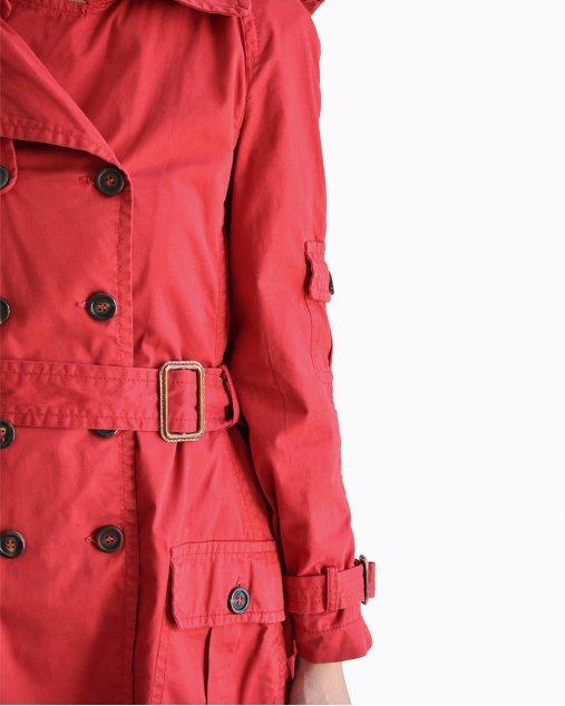 Trench Coat Moschino Cheap and Chic Vermelho