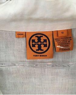 Túnica Tory Burch branca com detalhes bordados