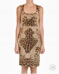 Vestido Animal Print Dolce & Gabbana