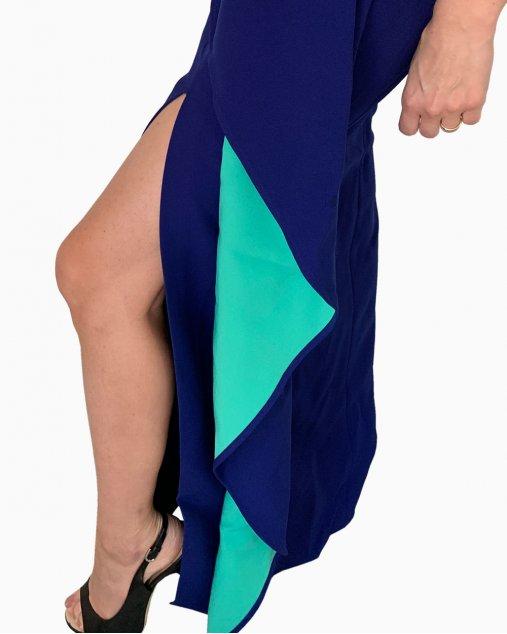 Vestido BCBG Max Azria Longo Azul