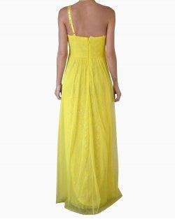 Vestido Longo  BCBG Maxazria Debora Amarelo