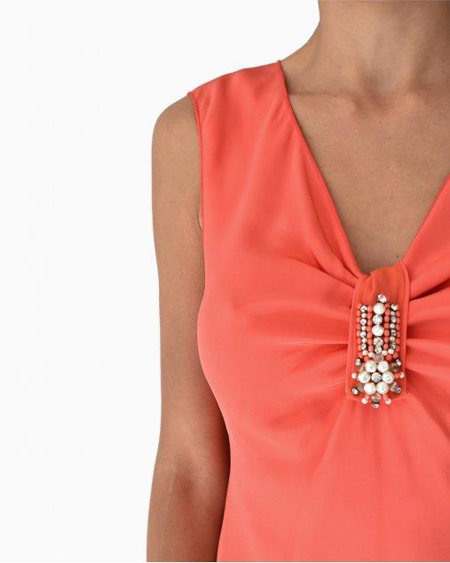Vestido Blumarine Coral