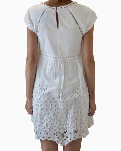 Vestido Carolina Herrera Renda Branco