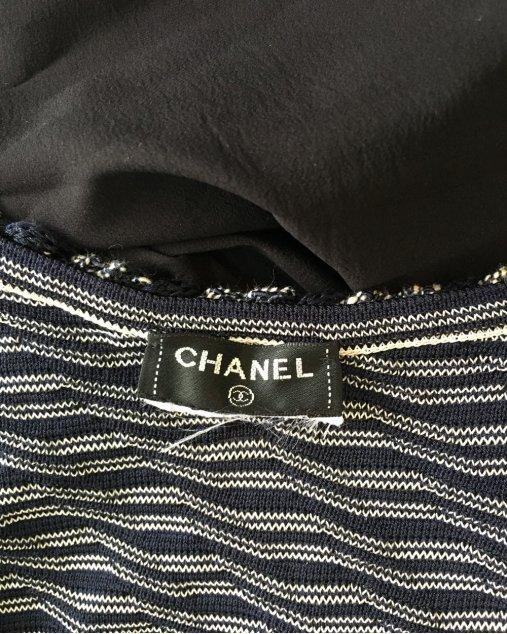 Vestido Chanel Azul Marinho