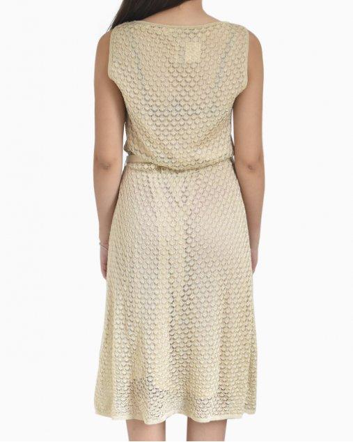 Vestido Christian Dior Dourado