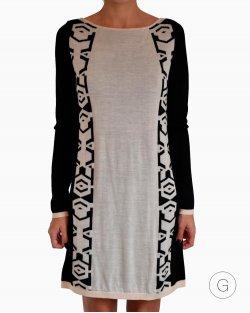 Vestido Diane Von Furstenberg Kivel Slim Intarsia Bicolor