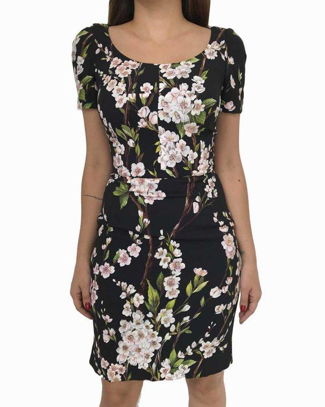 Vestido Dolce & Gabbana Floral Preto
