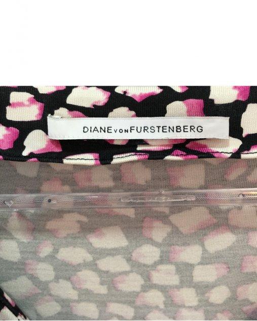 Vestido DVF Rosa e Preto