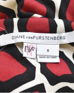 Vestido DVF Vermelho e Preto