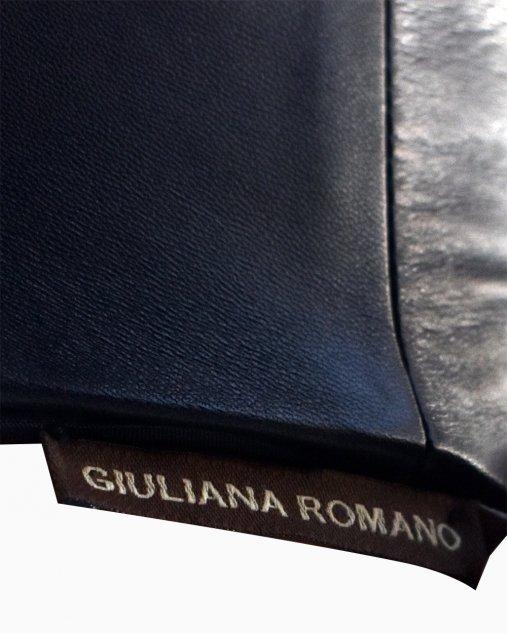 Vestido Giuliana Romanno Couro Preto