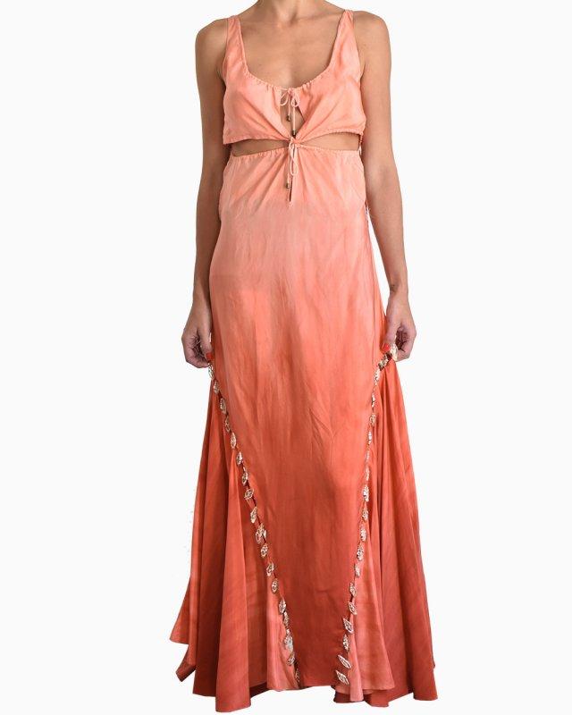 Vestido Longo  Givenchy Ombre Terracota