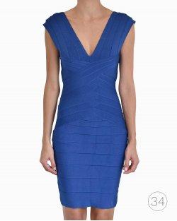 Vestido Hervé Léger Azul Bic