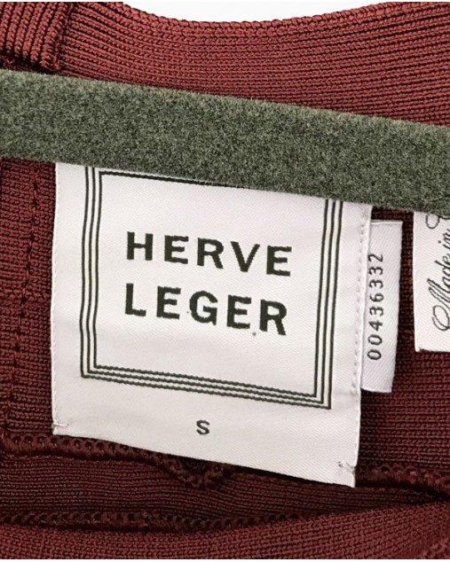 Vestido Herve Leger Burgundy