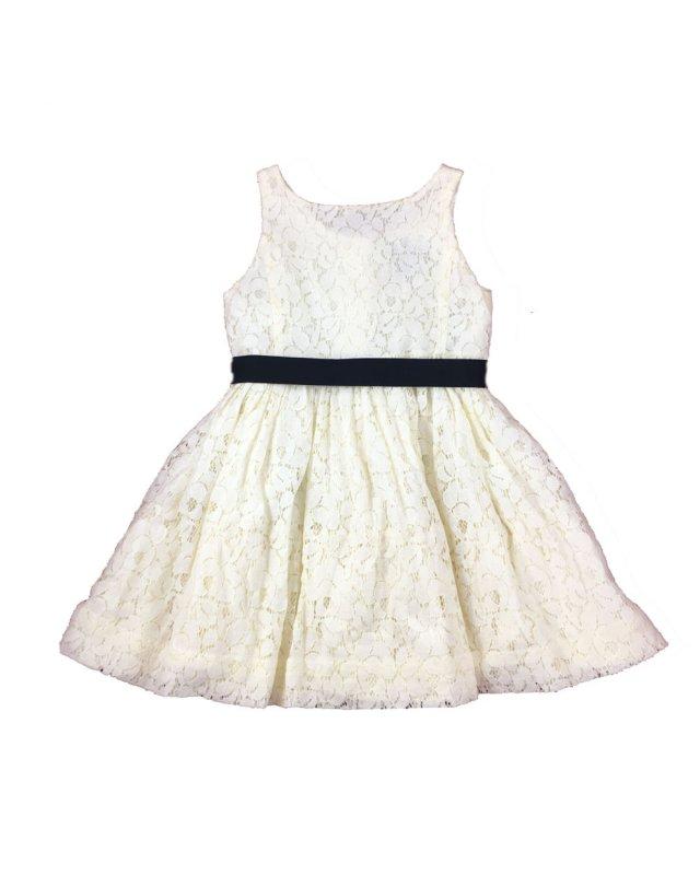 Vestido Infantil Renda Ralph Lauren