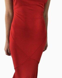 Vestido Longo Just Cavalli  Vermelho