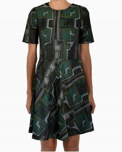 Vestido Lilly Sarti Estampado Verde