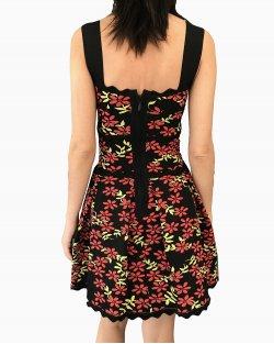 Vestido Lolitta Floral Fundo Preto