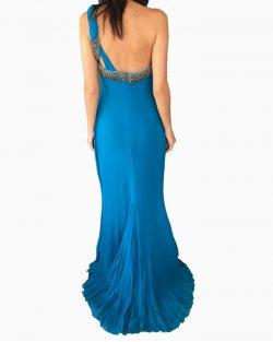 Vestido Longo Roberto Cavalli Azul