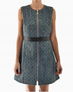 Vestido Louis Vuitton Denim Monograma